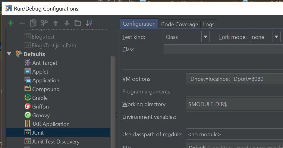 Добавьте необходимые системные свойства в конфигурацию запуска по умолчанию для JUnit или TestNG