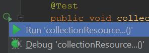 После этого вы можете запустить параметризованный интеграционный тест через IDE.