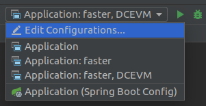 Final run configurations in IntelliJ IDEA. They provide the means to influence the startup time and the class reloading capabilities.
